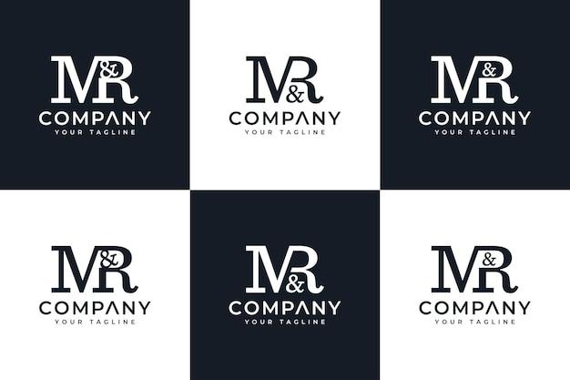 Set van letter mr logo creatief ontwerp voor alle toepassingen