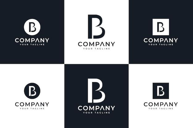 Set van letter pb logo creatief ontwerp voor alle toepassingen