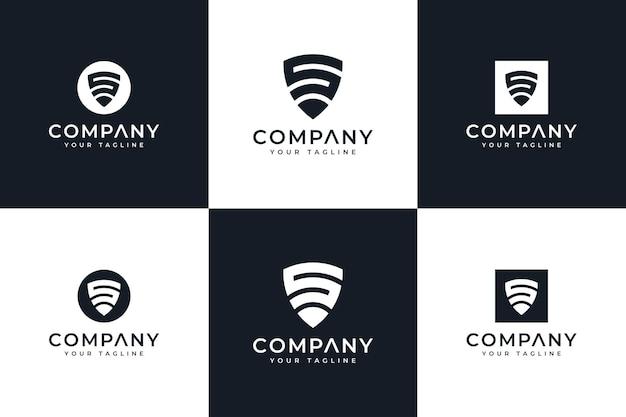 Set van letter s schild logo creatief ontwerp voor alle toepassingen