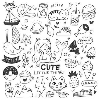 Set van leuke dingen doodles