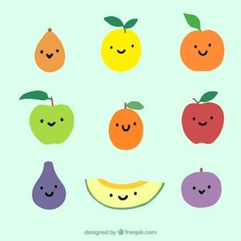 Set van leuke fruit