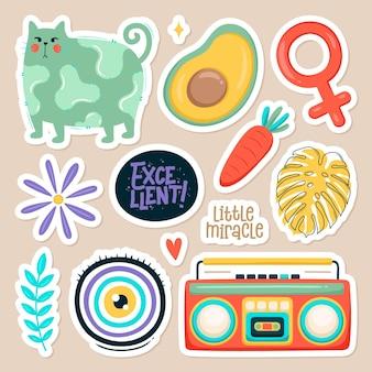 Set van leuke stickers