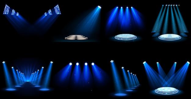 Set van lichteffect schijnwerpers