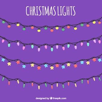 Set van lichtslingers voor kerst decoratie