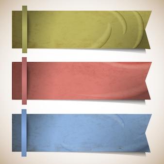 Set van linten banners