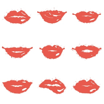 Set van lippen