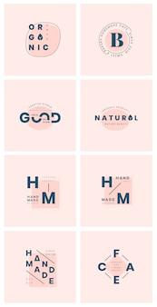 Set van logo badge ontwerp vectoren