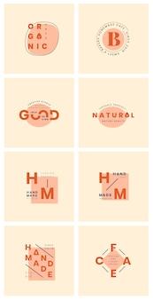 Set van logo ontwerp vectoren