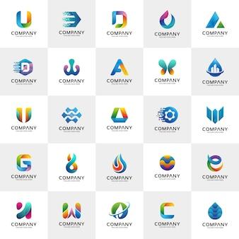 Set van logo ontwerpsjablonen