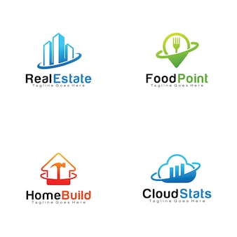 Set van logo's