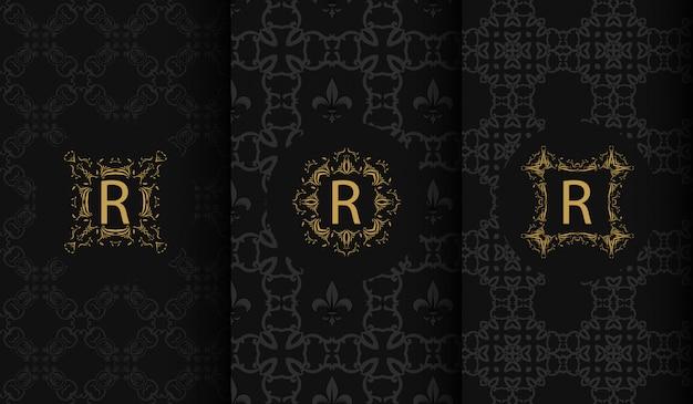 Set van luxe logo