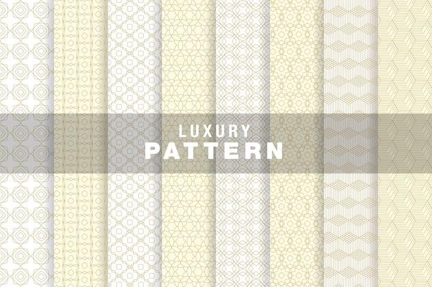 Set van luxe naadloos patroonontwerp