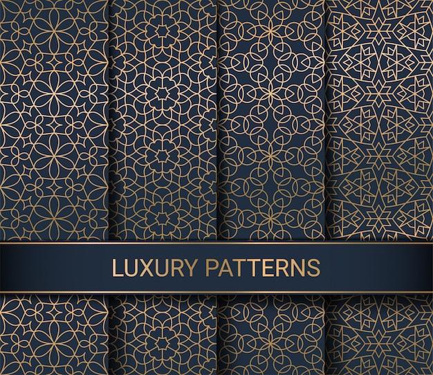 Set van luxe naadloze patronen