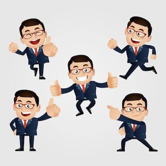 Set van man karakter in verschillende poses