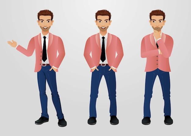 Set van man karakters