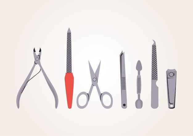 Set van manicure clipart