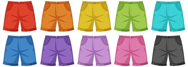 Set van mannelijke broek Premium Vector