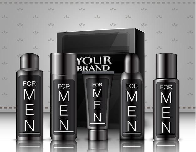 Set van mannen cosmetica-pakket