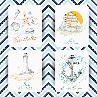 Set van marine-kaarten