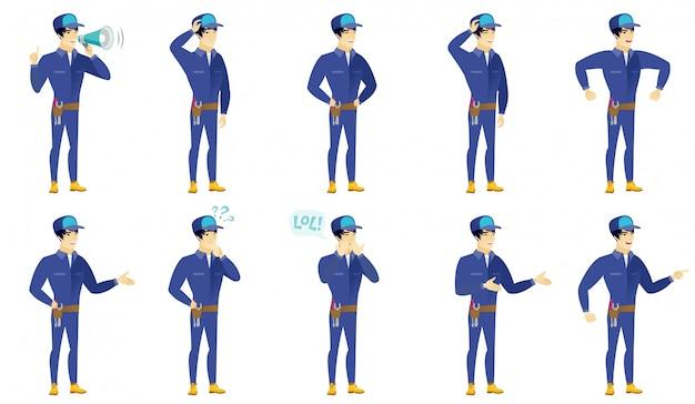 Set van mechanische karakters.