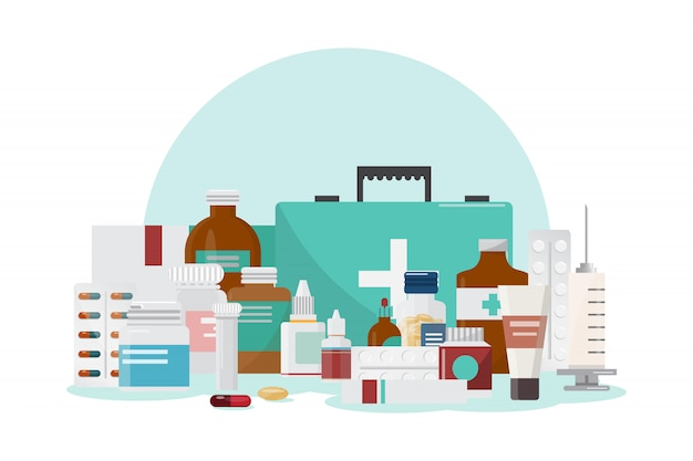 Set van medicijnen