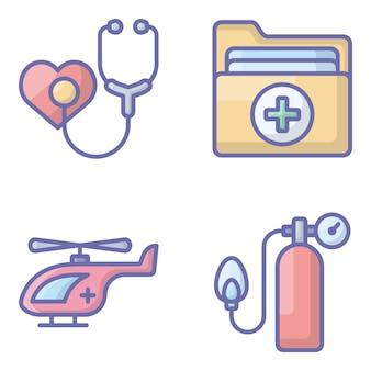 Set van medische iconen pack