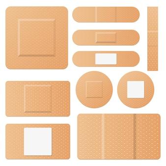 Set van medische patches ontwerp illustratie op een witte achtergrond