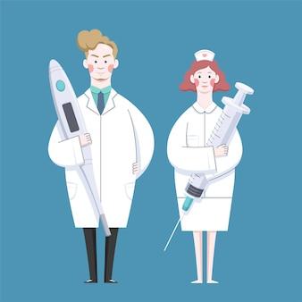 Set van medische werkers