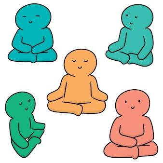 Set van meditatie