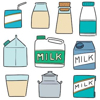 Set van melkproducten