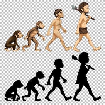 Set van menselijke evolutie
