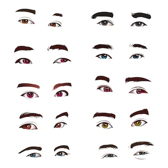 Set van menselijke ogen realistische vector