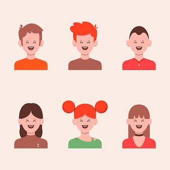 Set van mensen illustratie in plat ontwerp