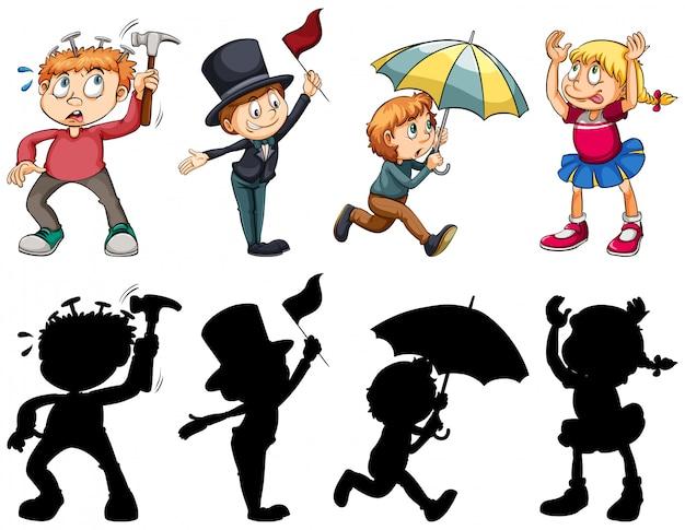 Set van mensen karakter