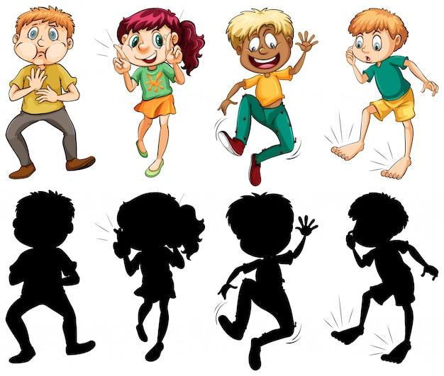Set van mensen met verschillende expressie
