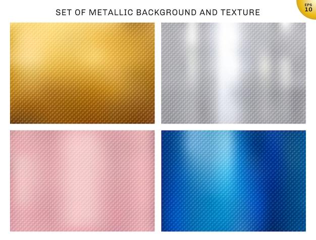 Set van metalen achtergronden