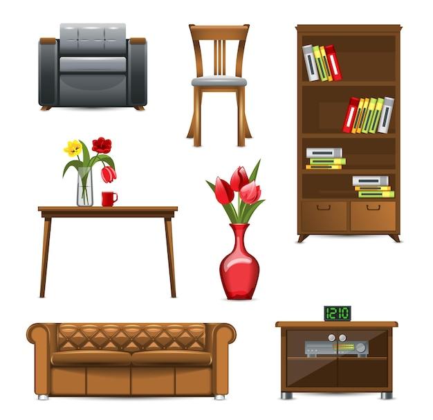Set van meubelen voor interieur