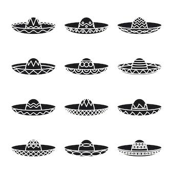 Set van mexicaanse hoeden