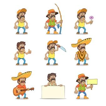 Set van mexicaanse man