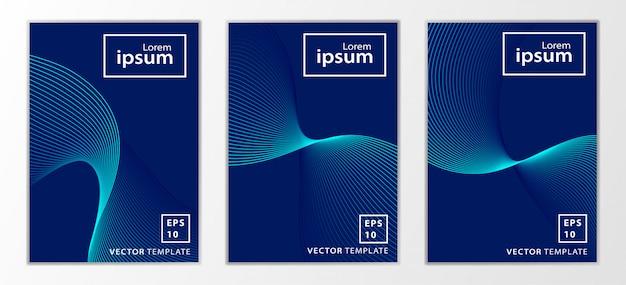 Set van minimale zakelijke brochure cover design