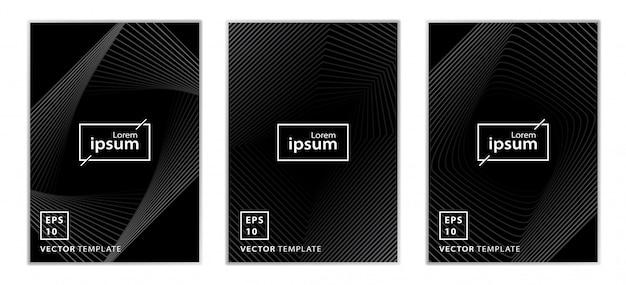 Set van minimale zakelijke brochure cover ontwerp