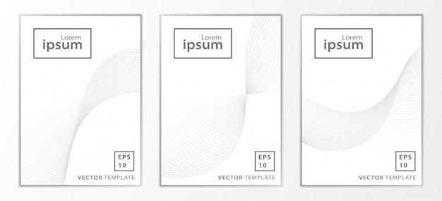Set van minimale zakelijke brochure dekking