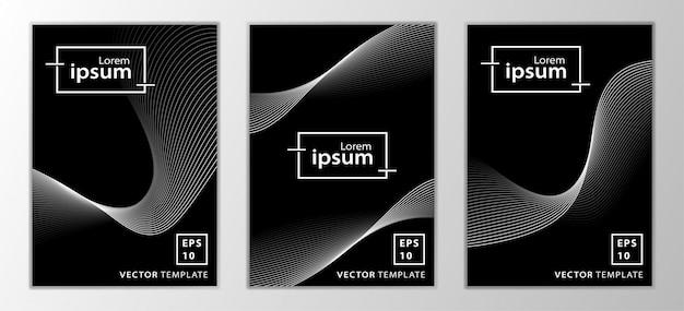 Set van minimale zakelijke cover ontwerp