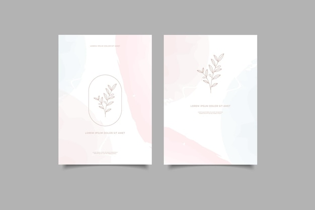 Set van minimalistische abstracte omslag