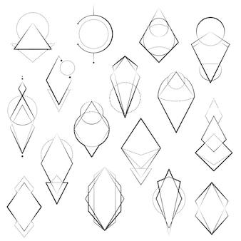 Set van minimalistische geometrische elementen