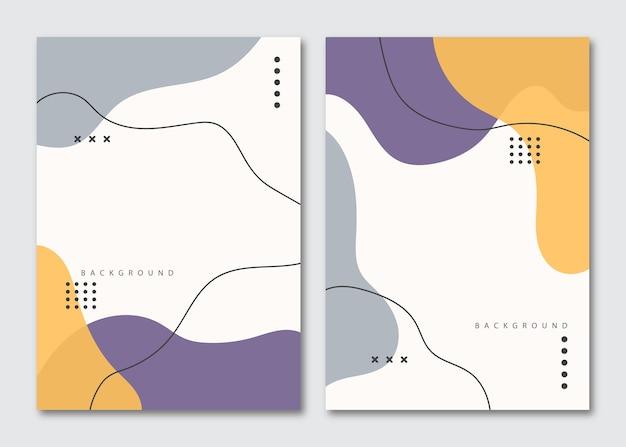 Set van minimalistische hand getrokken vloeiende vormen achtergrond