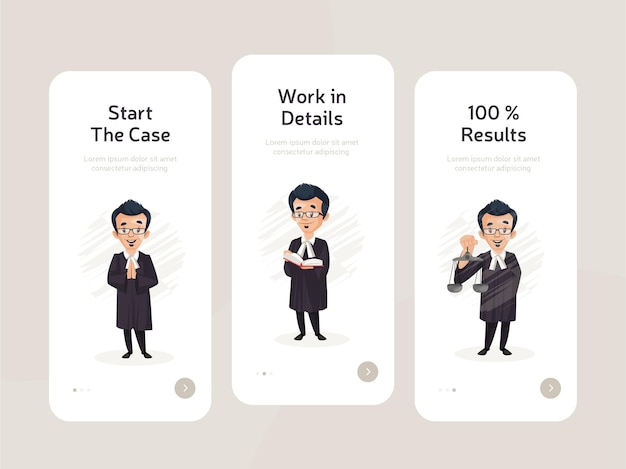 Set van mobiele apps flat screen design