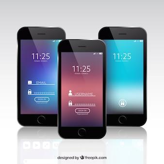 Set van mobiele wallpapers