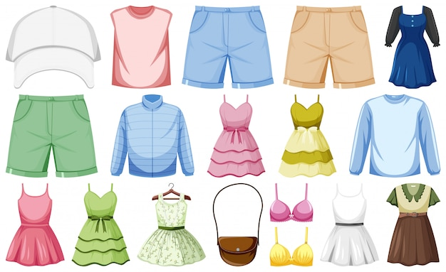 Set van mode-outfits