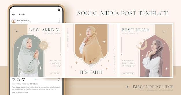 Set van mode social media postsjabloon Premium Vector